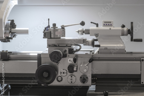 Industrial metalworking machine close up