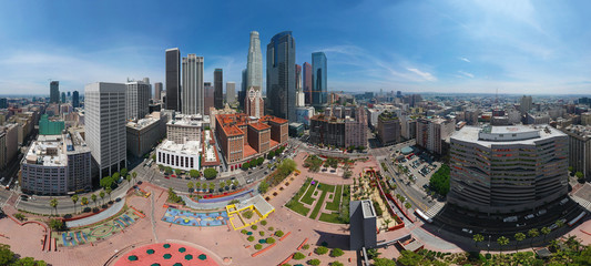 LOS ANGELES DOWNTOWN - 360 DEGREES PANORAMA - DRONE SHOT