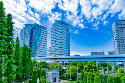 Fotobehang Groene 東京ビックサイト近隣の街並み