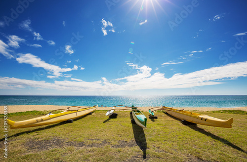 Plexiglas Galyna A. Hawaiian boats