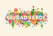 Green City spanish language concept illustration - 205330336