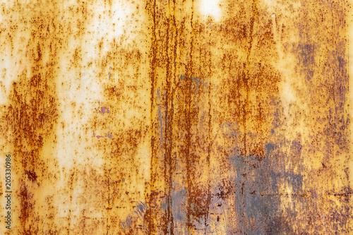 Naklejka Rostiges Metall mit abgeblätterter Farbe als Hintergrund