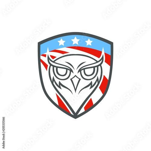 Fotobehang Uilen cartoon Owl vector mascot design sport animals illustration emblem isolated