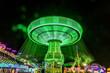 Quadro July 18, 2017 VENTURA CALIFORNIA - Illuminated fair ride with blurred neon lights at the Ventura County Fair