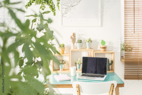 Foto Murales Modern home office interior