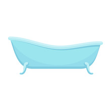 Bath Color Icon Flat  Cartoon Illustration Objects    Sticker