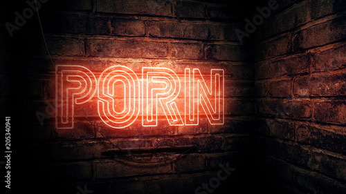 Porn neon sign - 205340941