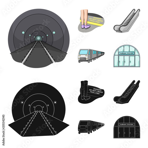 Fotobehang Auto Electric, transport, equipment and other web icon in cartoon,black style.Public, transportation,machineryicons in set collection.