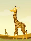 illustration of giraffe in the wild - 205345566