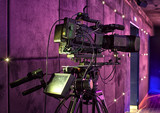 tv camera in a concert hall - 205370379