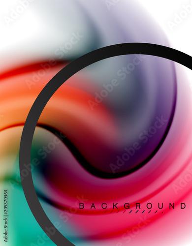 Swirl fluid flowing colours effect effect, holograficzne abstrakcyjne tło