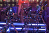 tv camera in a concert hall - 205370503