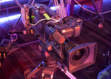 tv camera in a concert hall - 205370714