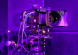 tv camera in a concert hall - 205370915