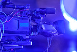 tv camera in a concert hall - 205371392