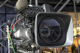 tv camera in a concert hall - 205371515