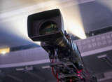 tv camera in a concert hall - 205372946