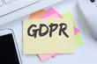 GDPR General Data Protection Regulation EU European Union websites internet business concept desk - 205386568