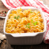 baked pasta with cream and cheese - 205389795