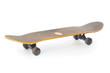 Used skateboard close up isolated on white background