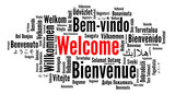 Welcome word cloud in different languages  - 205391135