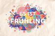 Spring time season text quote in german language