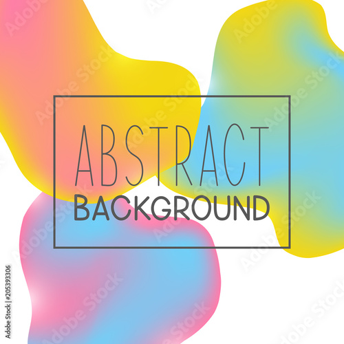 Poster Abstract background with color liquid elements