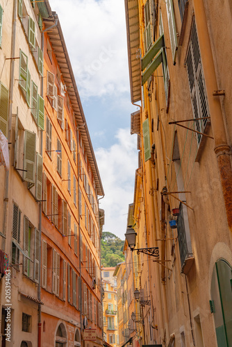 Fotobehang Nice Old Town or Vielle Ville Nice, France.
