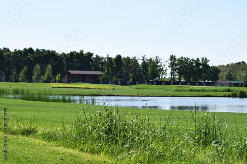 Plexiglas Pistache golf field Ukraine