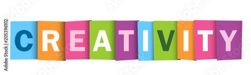 Fototapeta CREATIVITY Overlapping Vector Letters Icon