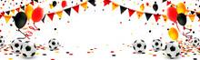 Deutschland Trikolore Girlande Luftballons Konfetti Und Fußbälle  Sticker