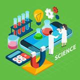 Chemistry Isometric Concept