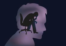 Dépression  Stress  Burn Out  Désespoir  Burnout  Bureau  Déprime  Entreprise  Concept  Chômage Sticker