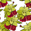 vector seamless flower pattern for cards, textiles, backgrounds - 205424523