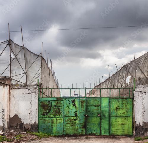 Fotobehang Oude verlaten gebouwen cultivos de platanos abandonados en canarias