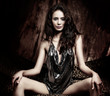 Beautiful exotic glamorous young woman