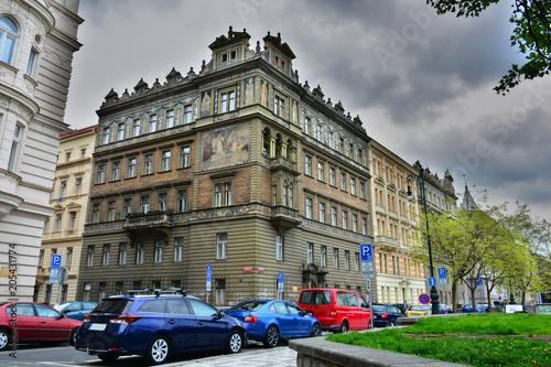 Prague street photo. Architecture, buildings.