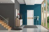 Modern home entrance - 205434584