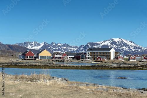 Fotobehang Blauwe jeans Coast of Northern Norway,Tromso