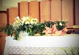 flowers and on the altar in the Basilica - 205440339