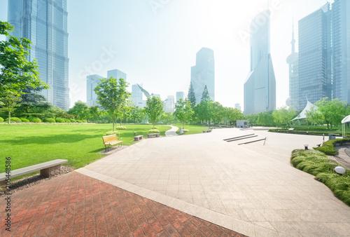 Aluminium Shanghai park in lujiazui financial center, Shanghai, China