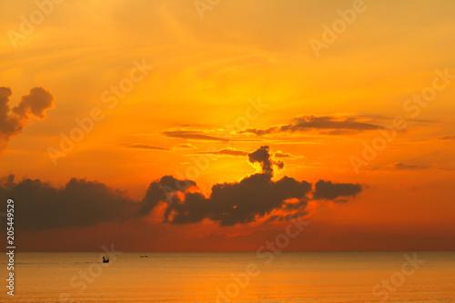 Aluminium Oranje eclat Beautiful sky at twilight time for background