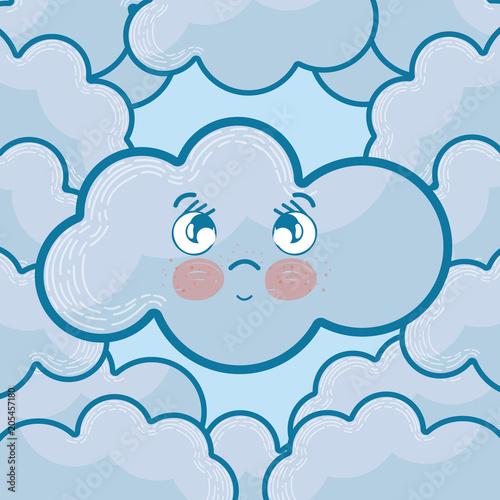 Cute cloud cartoons