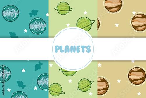 Fototapeta planets background cartoons