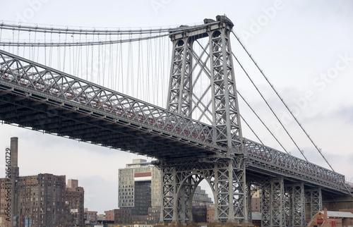 View of the Williamsburg Bridge in New York City