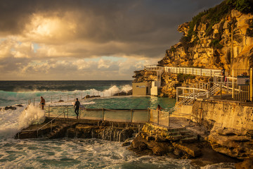 Sunrise at Bronte Beach in Sydney Australia