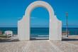 Quadro Arco per entrare nel mare Tirreno a Sperlonga, latina, lazio, Italia