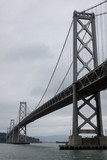 View of Oakland Bay Bridge in the fog in San Francisco