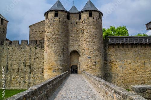 Wall mural Carcassonne la cité, Aude, Occitanie, France.