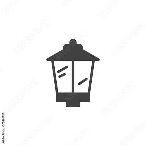 Street lamp vector icon. filled flat sign for mobile concept and web design. Lantern simple solid icon. Symbol, logo illustration. Pixel perfect vector graphics